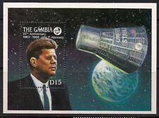 Gambia Stamp - Kennedy and Space Capsule Stamp - NH