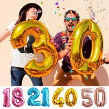 16 18 21 30 40 50th anniversaire feuille numéro hélium âge ballons mariage fête
