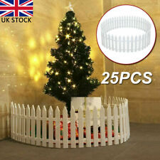 More details for 25pcs white picket fence miniature fairy garden border for xmas tree lawn yard
