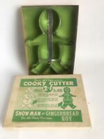 """Vintage Sanitary Metal 8"""" Snowman or Gingerbread Boy Cooky Cookie Cutter NOS"""