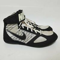 Nike Mens 11.5 Takedown Wrestling Shoes Black 366640-001 Mesh Mid Top Lace Up