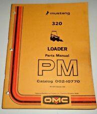 Mustang 320 Skid Steer Loader Parts Manual Catalog Book 1278 Original Owatonna