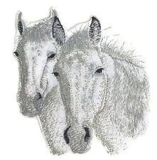 Connemara Horses Faces  Embroidery Iron On Patch