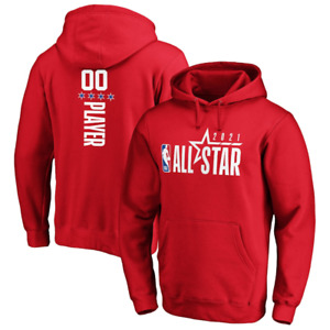 2021 NBA All-Star Game Pick-A-Player Pullover Hoodie - Red 2-sided shirt