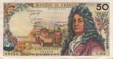 BILLET DE BANQUE banknote 50 Francs RACINE 05-06-1975 A V.269 état voir scan