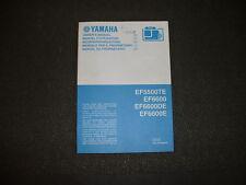 2008 Yamaha EF5500TE / EF6600 / EF6600DE / EF6600E - Factory Owners Manual