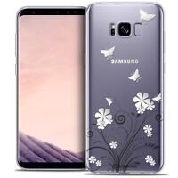 Coque Crystal Gel Pour Samsung Galaxy S8 (G950) Extra Fine Souple Summer Papillo