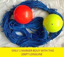 200ft Long-Line +1 Drop-Linea 100ft & 1 Marker Boa con 30 ganci a clip Taglia 2