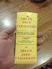 Vintage Dills Pipe Cleaners ~ World's Best Pipe Cleaner Advertising Pack Pocket