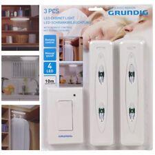 Set 2 punti Luce LED con Interruttore Wireless per Armadio e Mobili Grundig