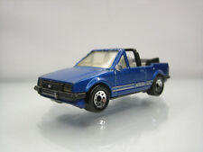 Diecast Matchbox Ford Escort XR3i Cabriolet 1985 in Blue Good Condition