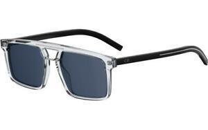 Christian Dior Men's BLACK262S-0900-A9 Homme Black Tie 54mm Crystal Sunglasses