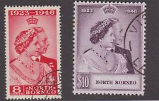North Borneo 1948 Silver Wedding Omnibus Pair VFU SG350-351 Cat £38