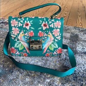 FURLA Tropical Bird Leather Crossbody Bag