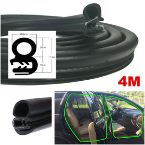 4M 13FT OEM Weatherstrip Car Body Door Rubber Seal Strip Soundproof Dustproof