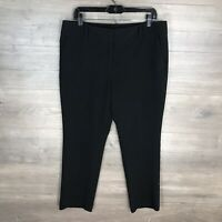 Ann Taylor Factory Women's Size 12 Signature Dress Pants Black Tapered Ankle