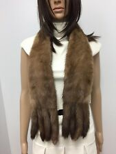 GENUINE  MINK FUR SCARF CAPE WRAP  COLLAR 8 TAILS n147