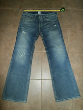 TRUE RELIGION Men's BILLY BIG T 36 x 36 Dark Bravo USA Made 100% cotton Jeans