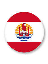 Magnet Aimant Frigo Ø38mm Drapeau Flag Tahiti France Papeete