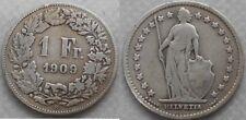 Schweiz 1 Franken 1909 Ag