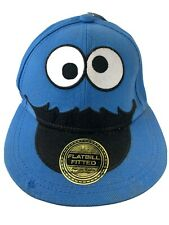 Cookie Monster Blue Sesame Street Fitted Youth L/XL Baseball Ball Cap Hat