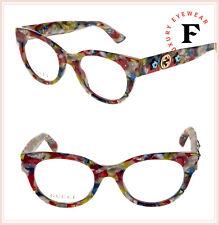 a83ba468fe3 GUCCI STAR 0209 Red Blue Marble Cat Eye Eyeglasses GG0209O 48mm Optical  Frame