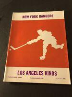 1969 NEW YORK RANGERS vs LOS ANGELES KINGS Program BOB NEVIN Ed GIACOMIN Gilbert