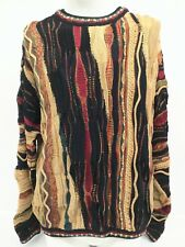 Baracuta TUNDRA Canada Red Gold Green Cotton Hip Hop Cosby Sweater Mens Size XL