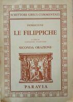 Le Filippiche  di Demostene 1961,  Paravia - ER