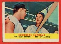 1958 Topps #321 Ted Williams VG-VGEX WRINKLE HOF Boston Red Sox FREE SHIPPING