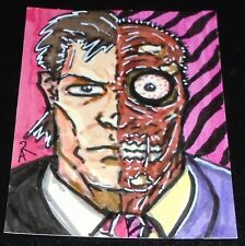 Original ACEO Two-Face (Batman) Sketch Art Card by Anthony (???)