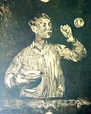 Édouard Manet, The Boy with Soap Bubbles (1868-69), Hand Signed Lithograph