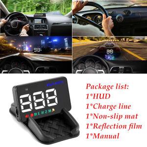 Multi-color Design A5 Auto GPS HUD Car Alarm Detector Real Time Speedometer Kit