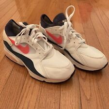 new arrival 6a547 406ee VINTAGE NIKE AIR MAX 93 OG SZ. 10.5 WHITE FLAME RED DARK BLUE GREY 104015
