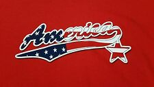 America t-shirt (2XL) 100% Cotton / Red Color / Logo On Front