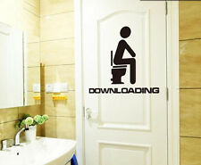 Funny Toilet Shower Entrance Sign Design Bathroom Wall Sticker Mural Art Vinyl