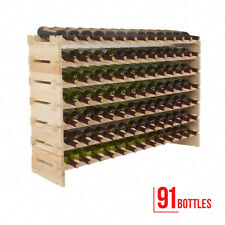 91 Bottles Solid Wood Wine Rack Holder Holds Display Shelves Standing
