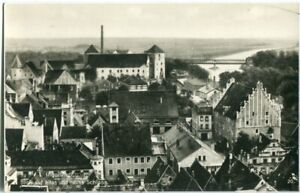 Foto-AK INGOLSTADT Blick über die Dächer auf altes u. neues Schloss, Brücke 20er