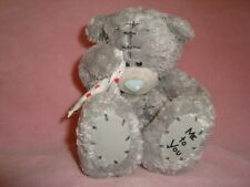 """Me To You Sad Teddy Bear with heart pattern handkerchief 5"""" tall"""