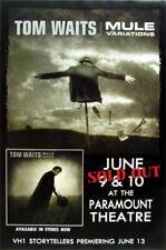 Tom Waits Original 1999 Mule Variations Paramount Theatre Oakland Concert Poster
