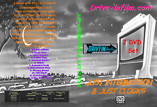 JUST INTERMISSION JUST CLOCKS 2 DVD set Drive-in film trailer movie theater