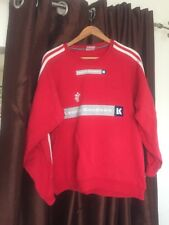 Denmark Dan mark Adidas Sweatshirt Red DHF Lauritz Knudsen Large