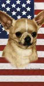 Chihuahua Patriotic Beach Towel