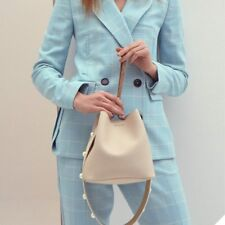 Find Kapoor Women's Pingo Bag Set Leather Hand Shoulder Clutch Strap Ivory