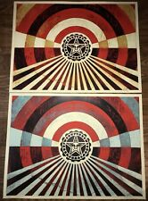Shepard Fairey Obey Tunnel Vision Original Colorway Print Set Banksy Kaws Poster