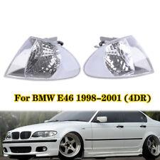 Front Corner Light Turn Signal Lamp Clear Lens For BMW E46 Sedan 1999-2001