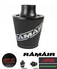 RAMAIR BLACK ALUMINIUM INDUCTION AIR FILTER 80mm OD NECK Ford Focus MK2 ST/RS