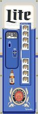 MILLER LITE BEER FRIDGE VENDING MACHINE VINTAGE REMAKE ART BANNER MURAL SIGN 2x6