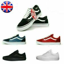 UK Vans Old Skool Skate Shoes Classic Canvas Sneakers Size UK3.5-UK9 Fast Free