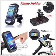 Motorcycle MTB Bike Handlebar Mount Holder w/ Waterproof Bag Case for Cell Phone
